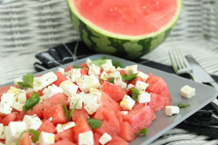 Food – Melonensalat mit Feta