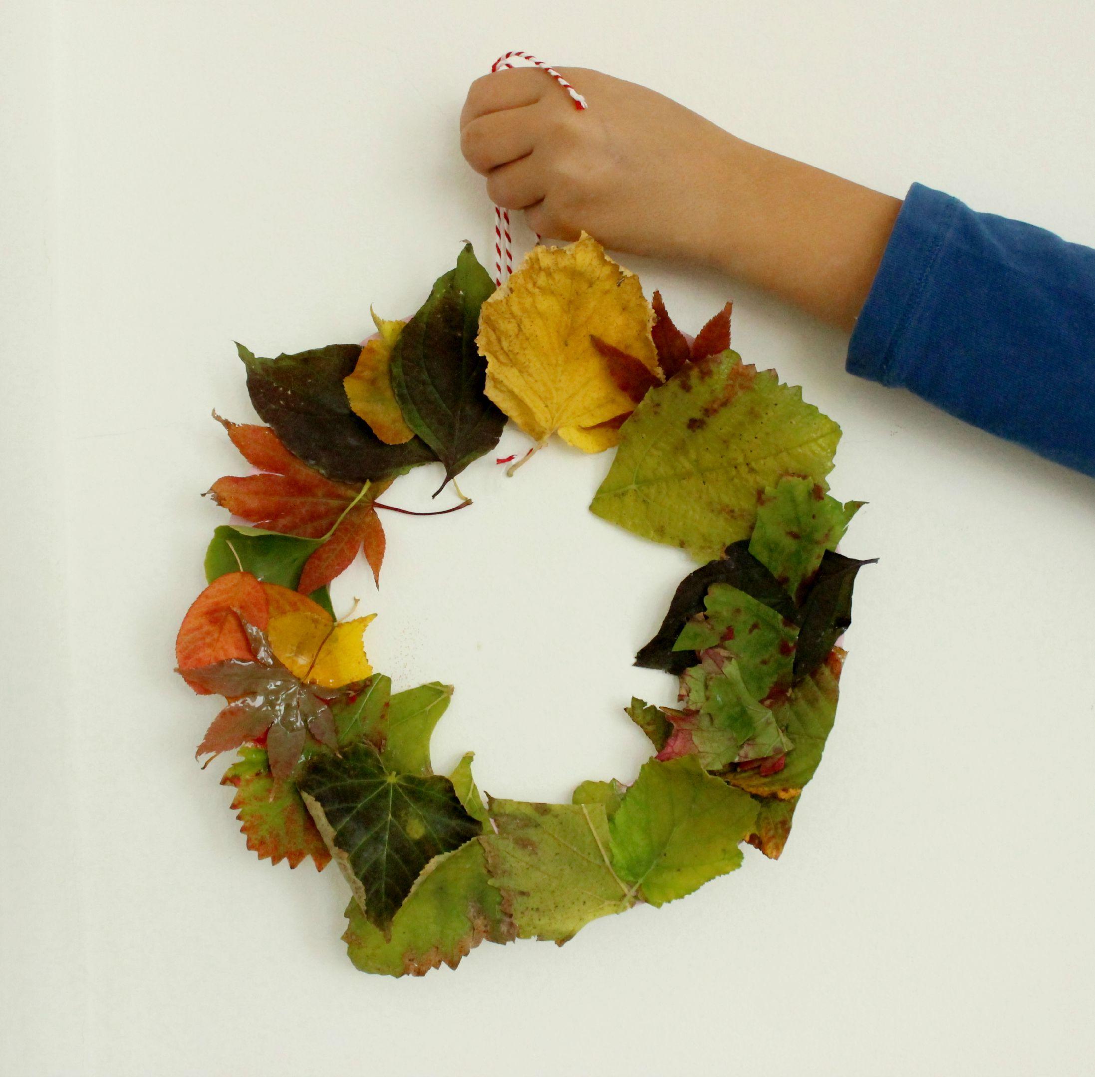 DIY – Basteln mit Kindern // Herbstkranz