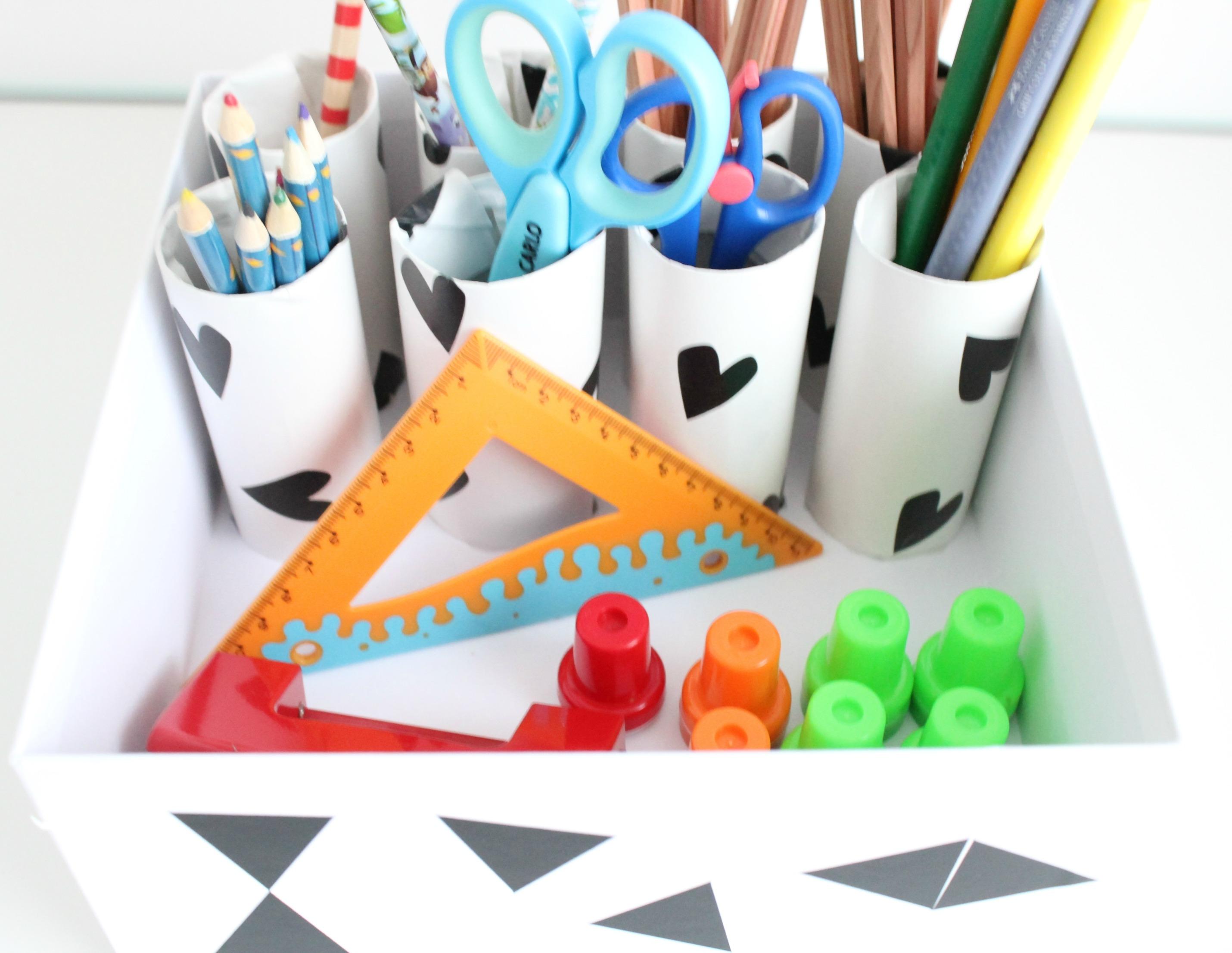 Diy Aufbewahrung Organisation Schreibtisch Im Kinderzimmer