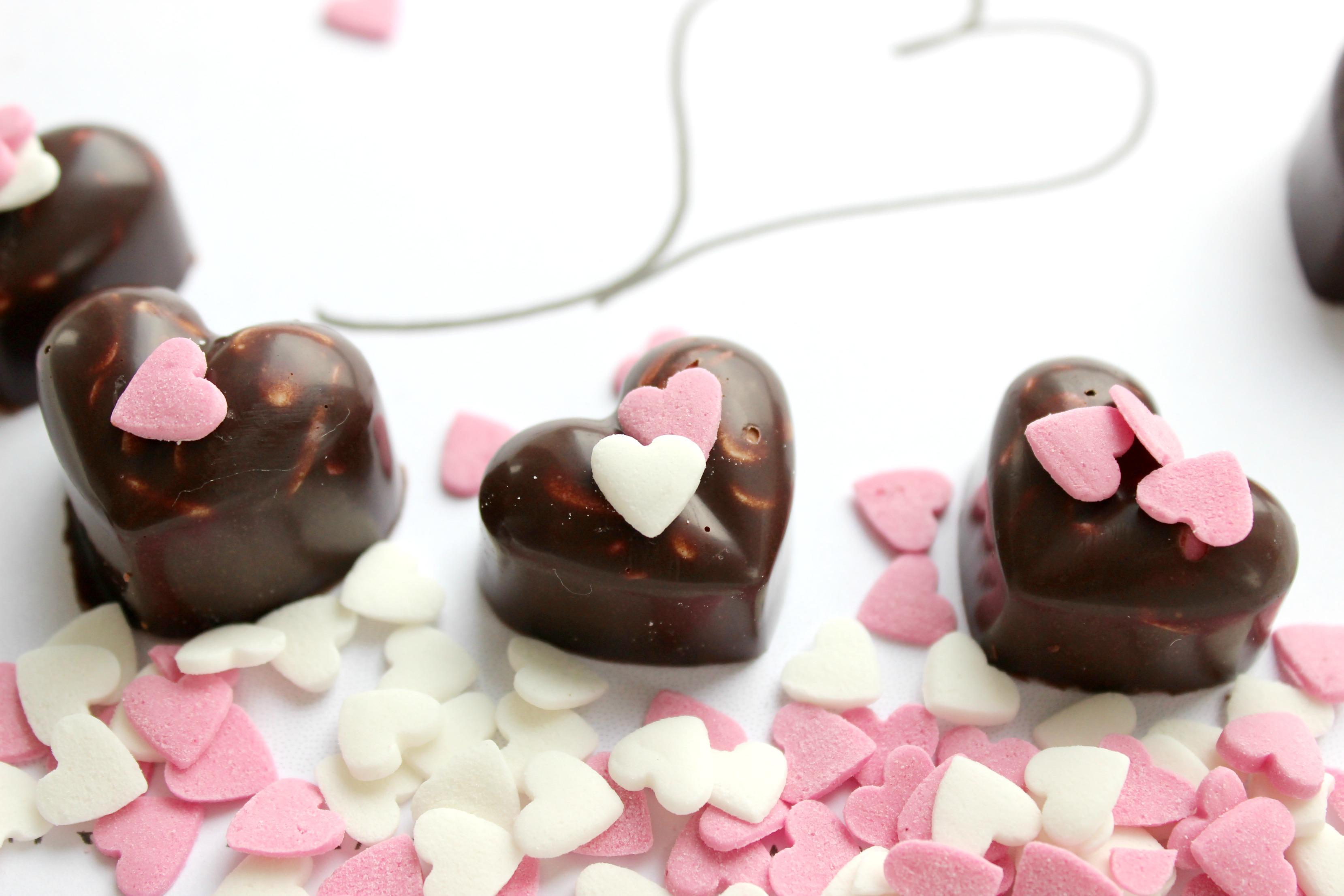 Schokoherzen Valentinstag