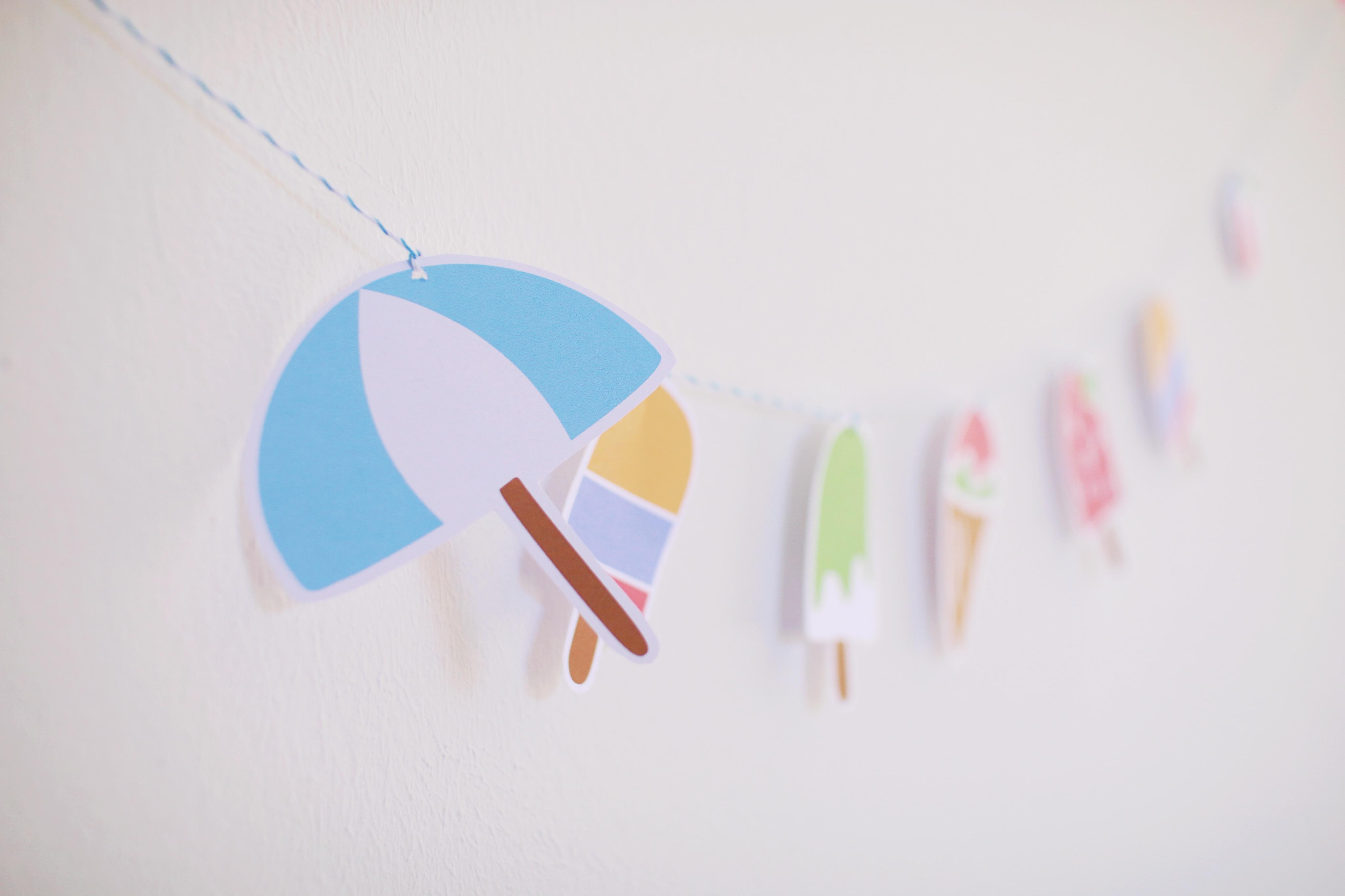 Eis-Wimpelkette, kostenloses Printable, DIY