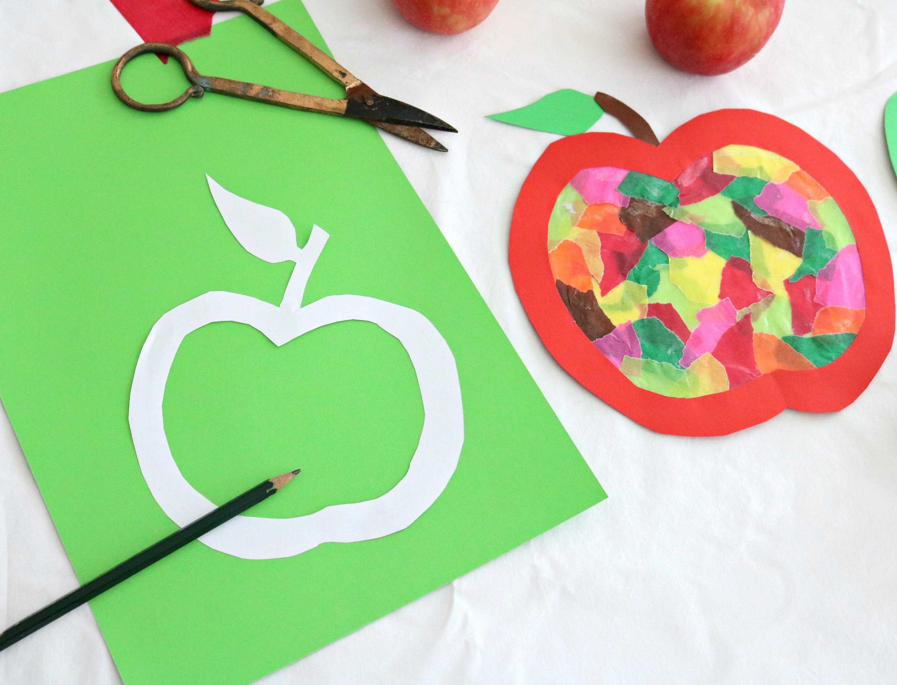 Anleitung Apfelfensterbild