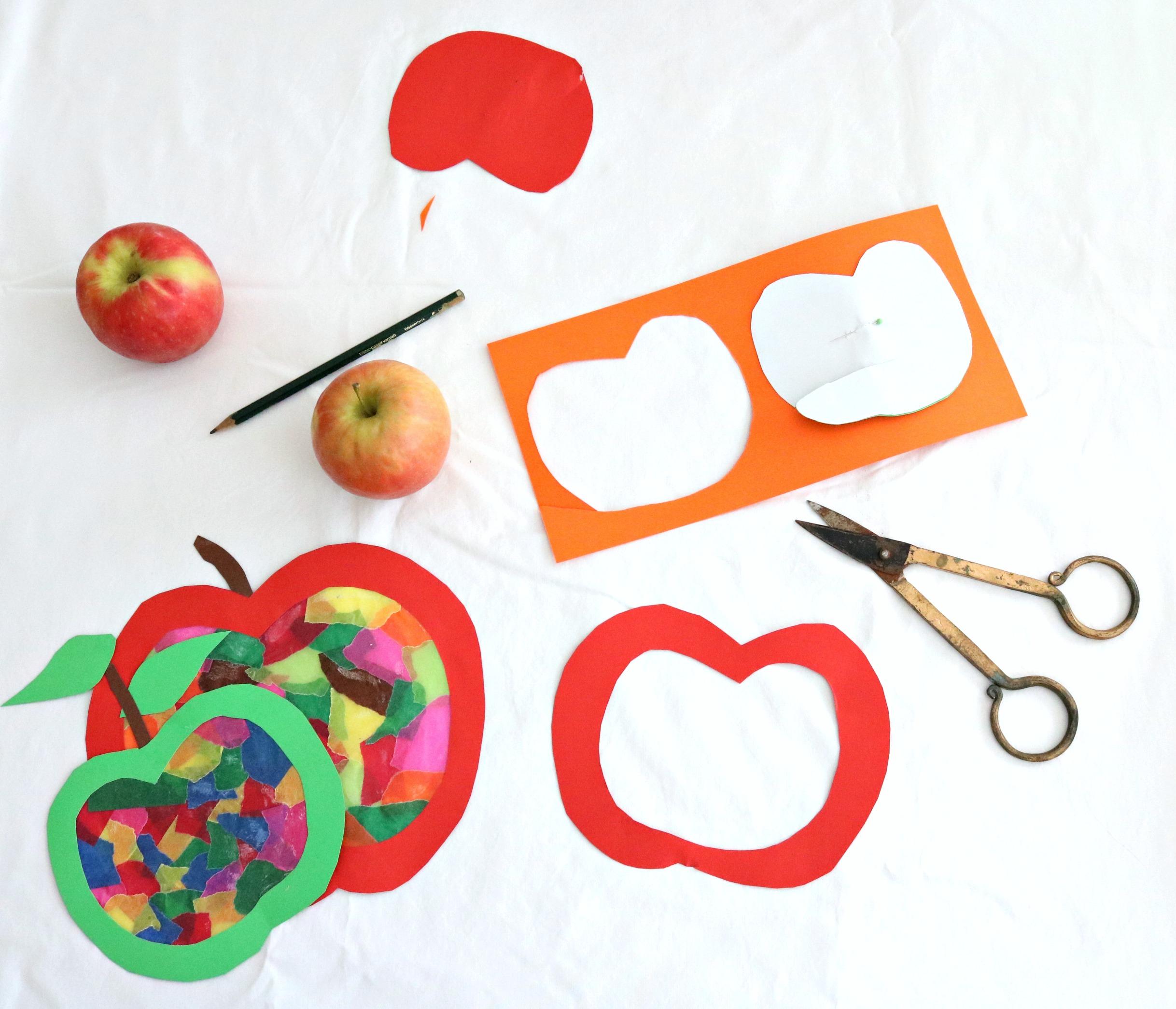 Schritt für Schritt Apfelfensterbild