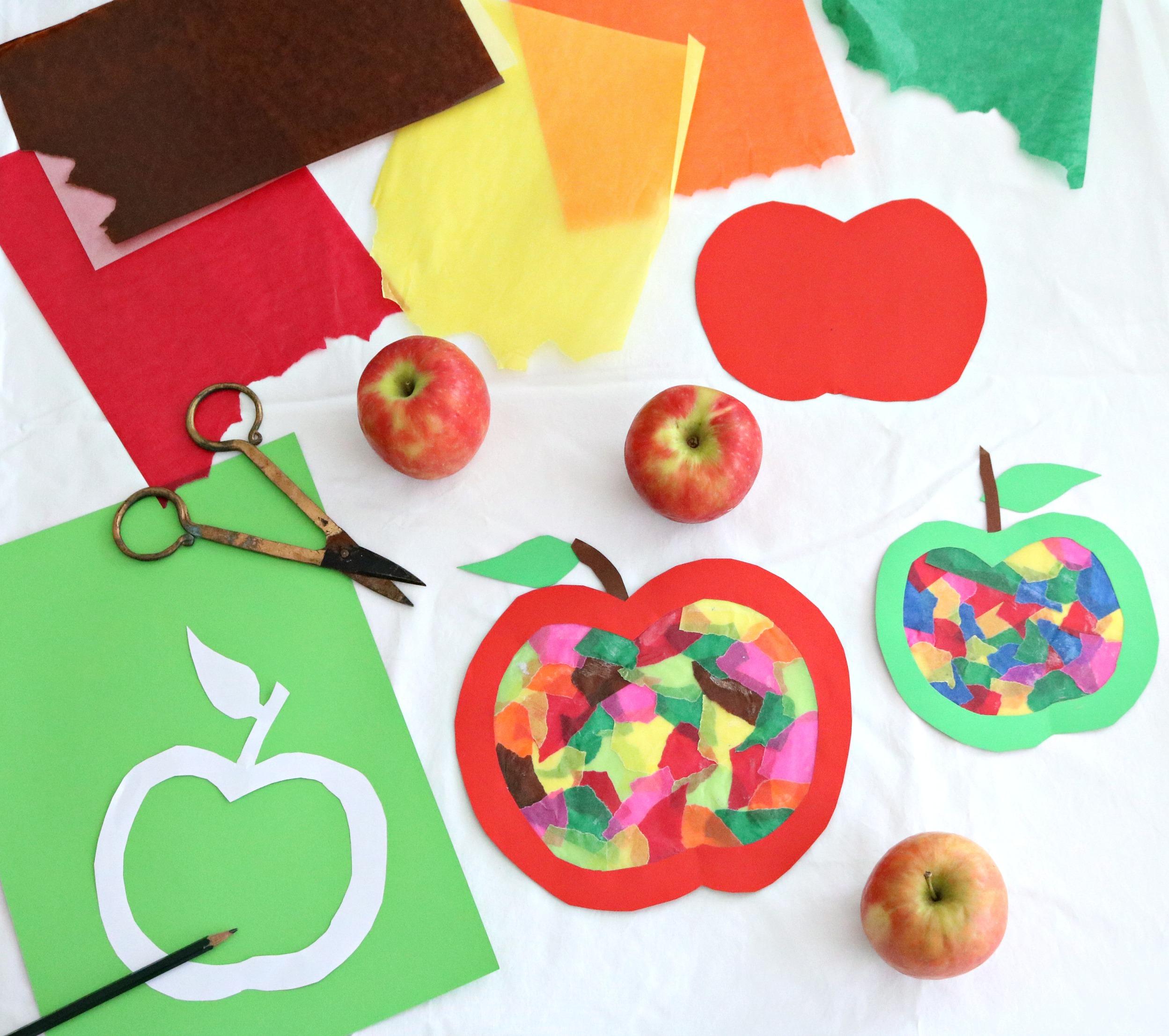Material Apfelfensterbild