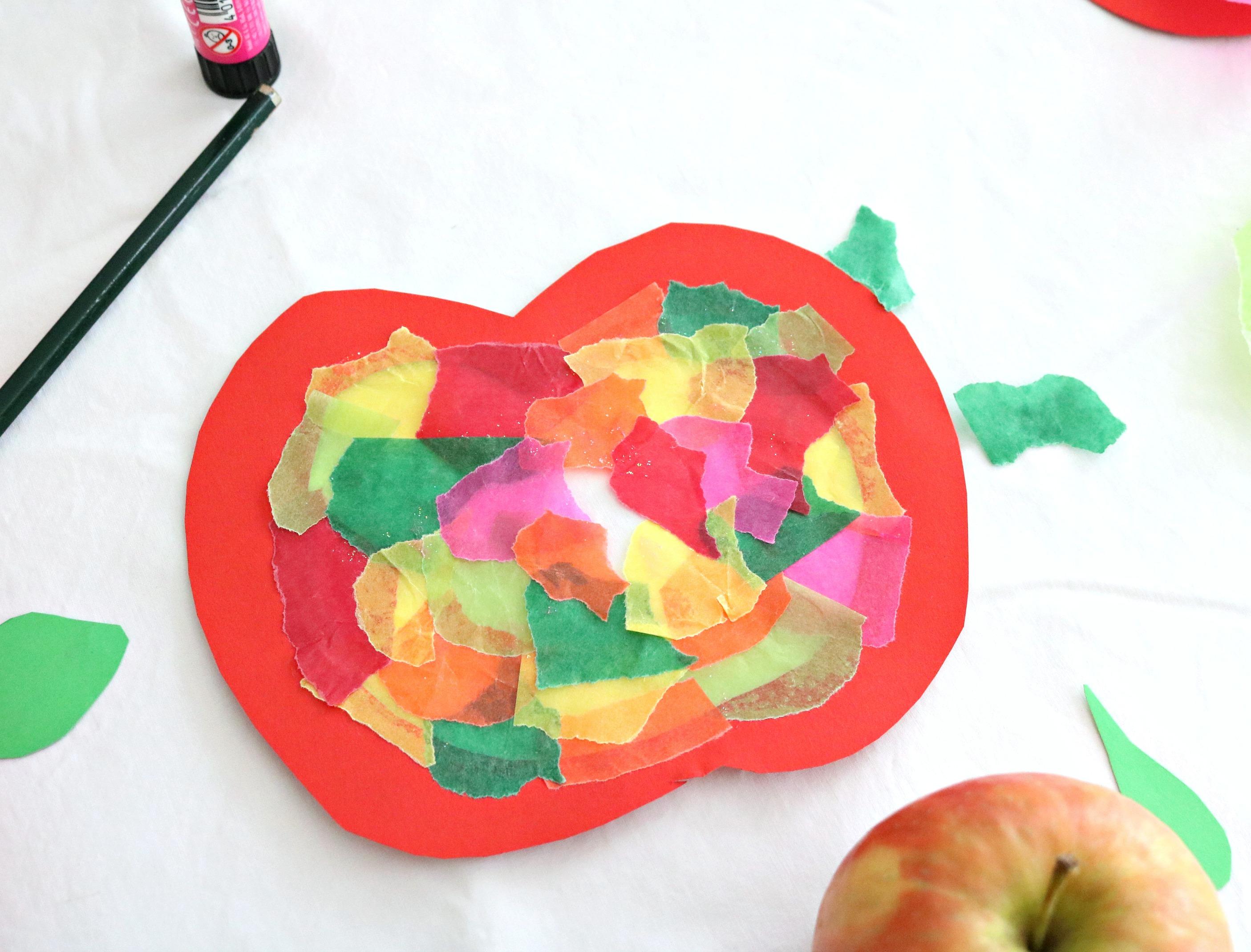 DIY Kids Apfelfensterbild