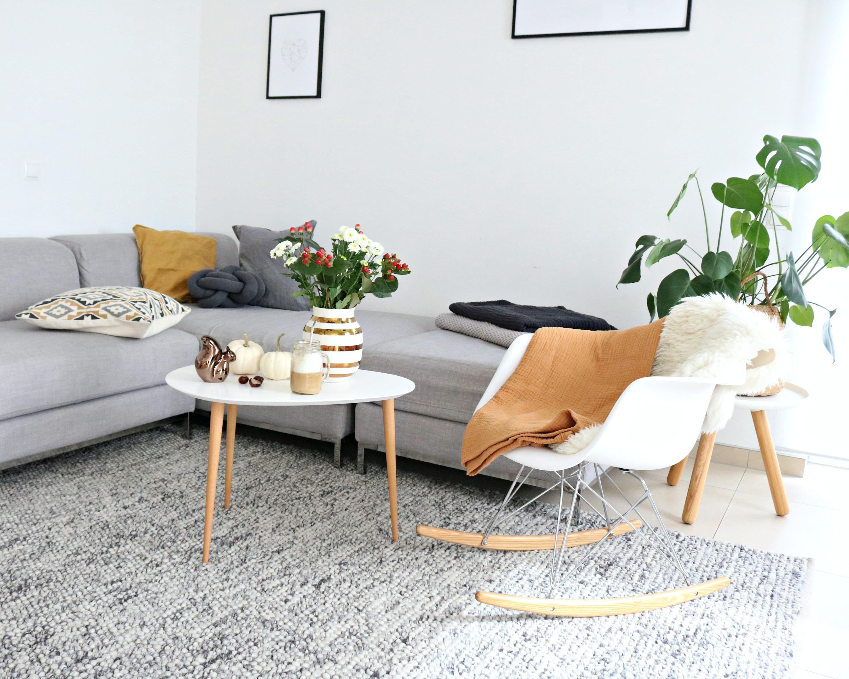 kuschelig Wohnzimmer Herbst