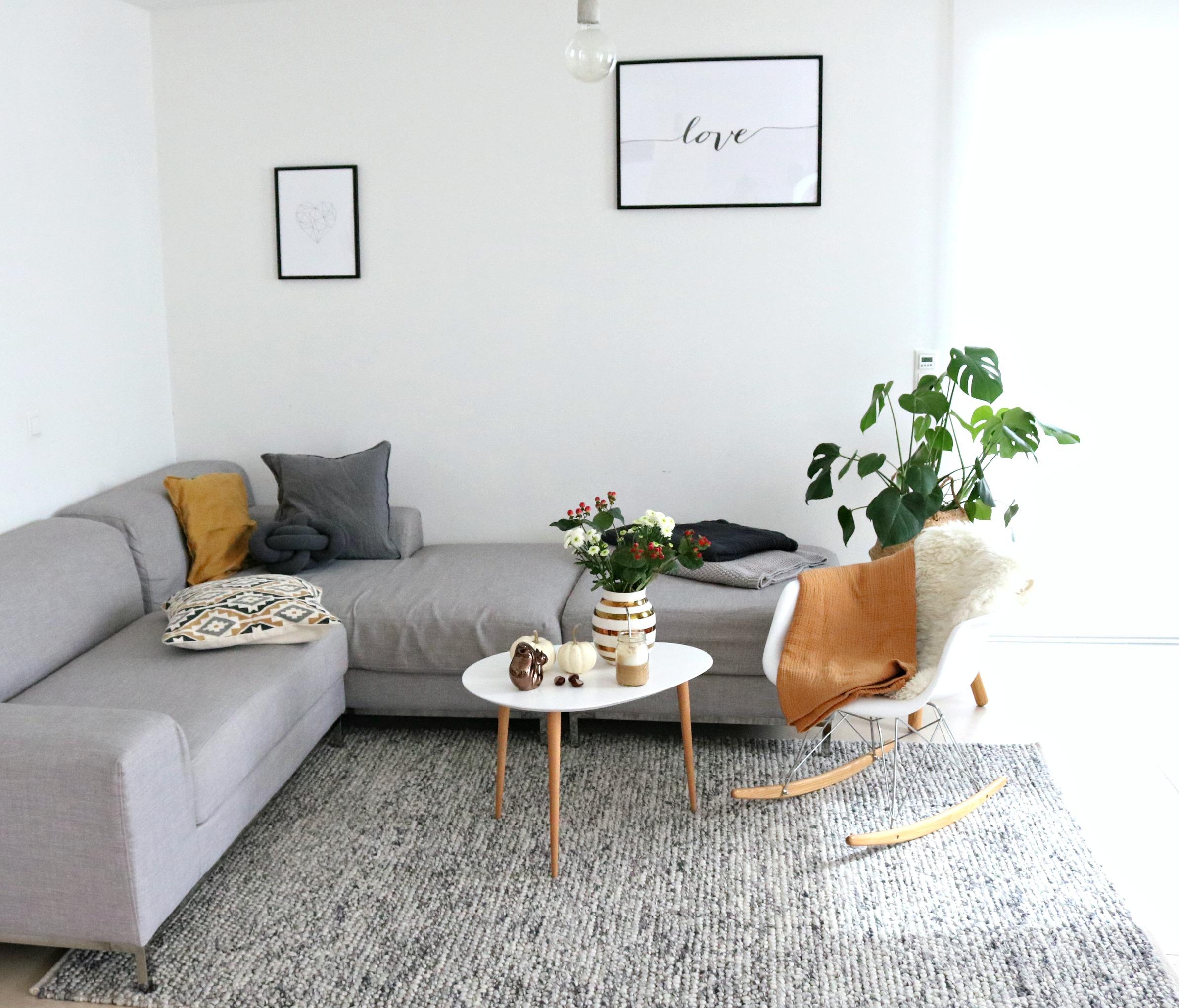 herbstliche Deko Wohnzimmer