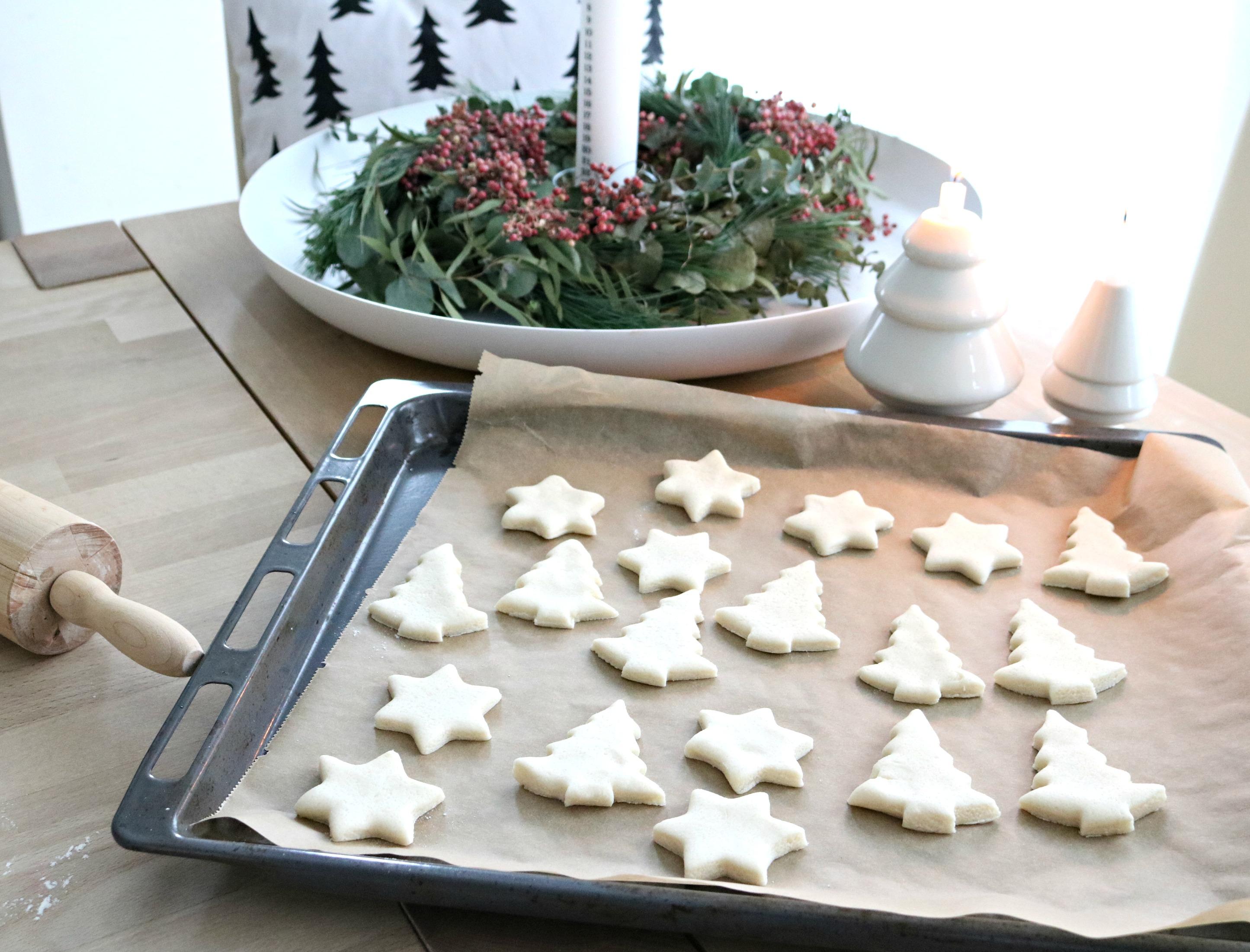 Weihnachtsdeko aus Salzteig