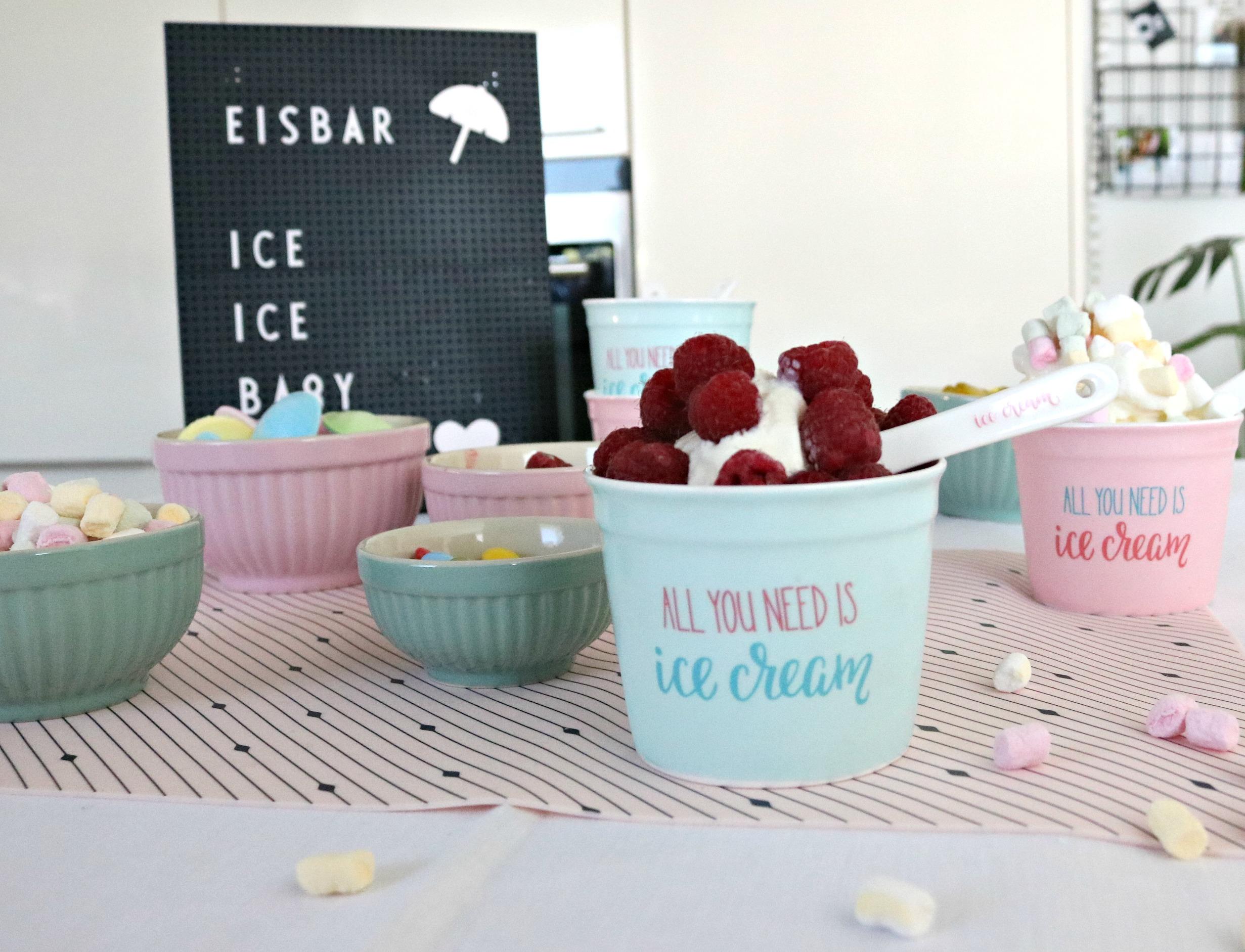Sommer Eis selber machen Frozen Joghurt