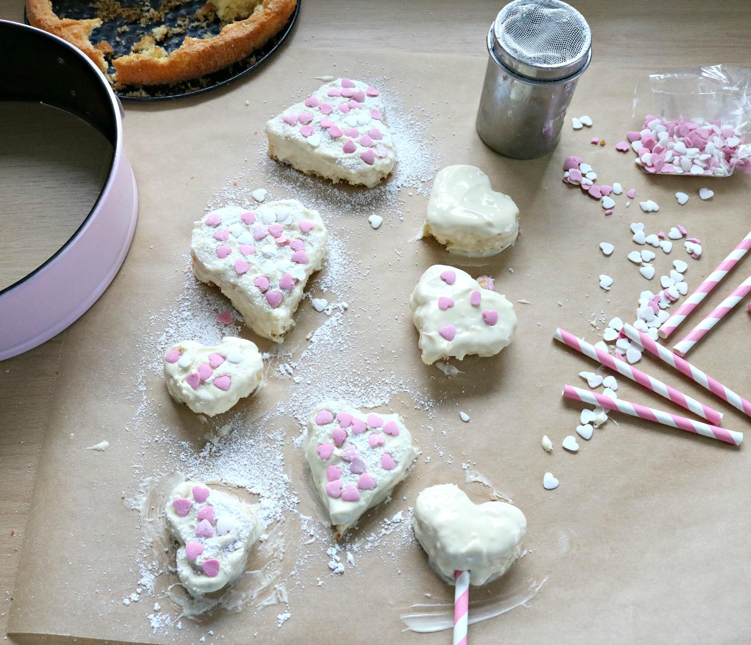 Zubereitung Herzkuchen am Stiel