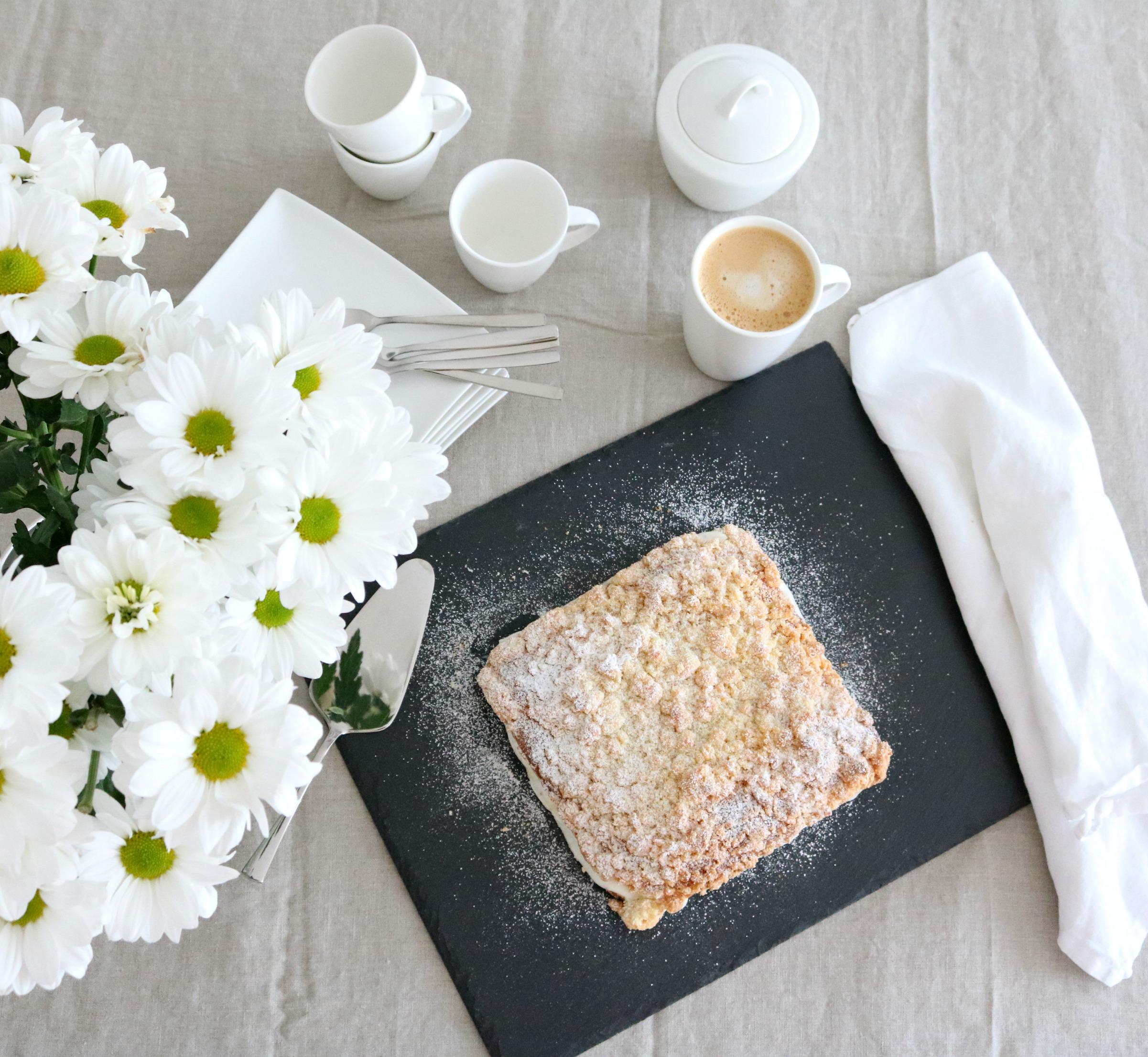 Streuselkuchen mit Stracciatella